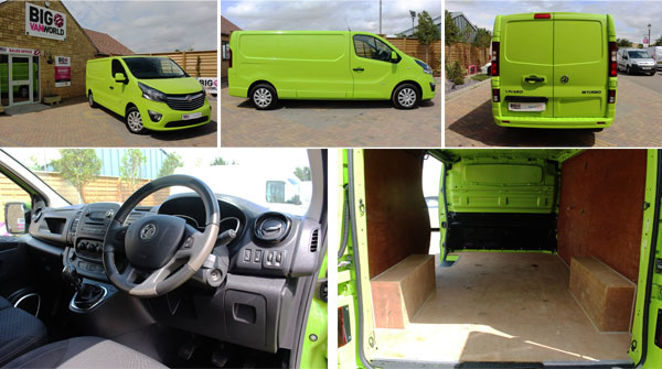 Mosaic of Vauxhall Vivaro Interior an -Exterior Photos
