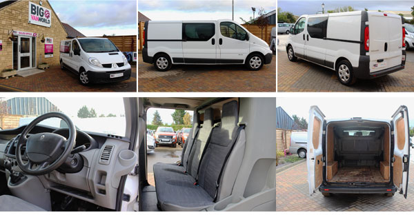 Mosaic of Renault Trafic Interior and Exterior Photos