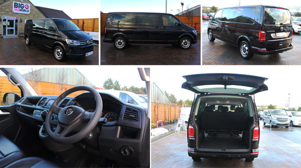 Mosaic of Volkswagen Transporter Interior and Exterior Photos