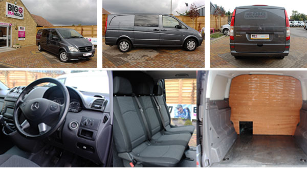 Mosaic of Mercedes Vito Interior and Exterior Photos