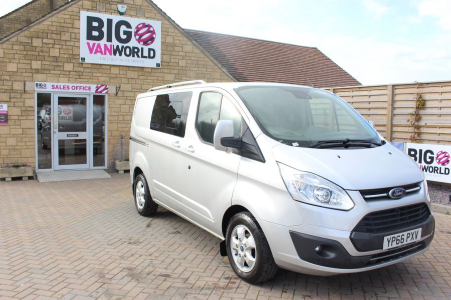 FORD TRANSIT CUSTOM 290 TDCI 170 L1 H1 LIMITED DOUBLE CAB 6 SEAT CREW VAN SWB LOW ROOF FWD  - 8973 - 3