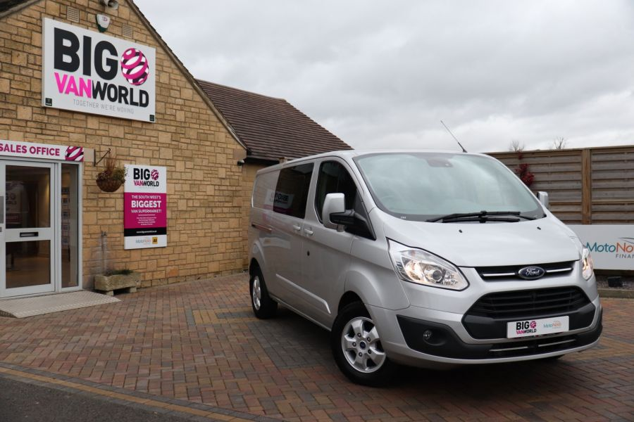 FORD TRANSIT CUSTOM 310 TDCI 130 L2H1 LIMITED DOUBLE CAB 6 SEAT CREW VAN  LWB LOW ROOF FWD  - 9968 - 1