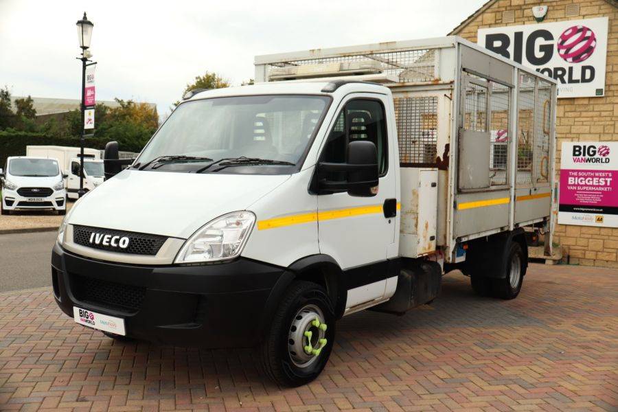 IVECO DAILY 70C18 3450 WB SINGLE CAB ALLOY CAGED TIPPER WITH TAIL LIFT - 9614 - 10