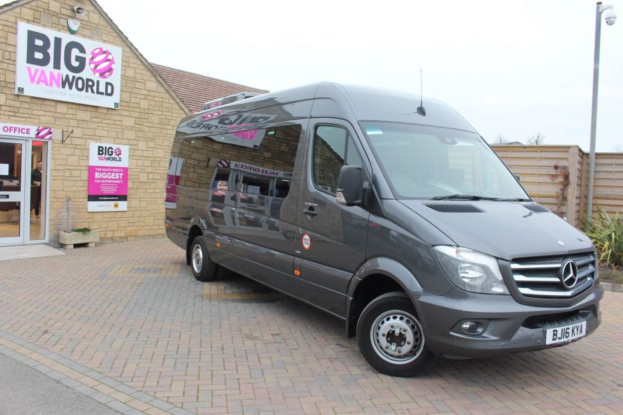MERCEDES SPRINTER 516 TRAVEL 45 XLWB 16 SEAT SINGLE DECK COACH - 8762 - 2