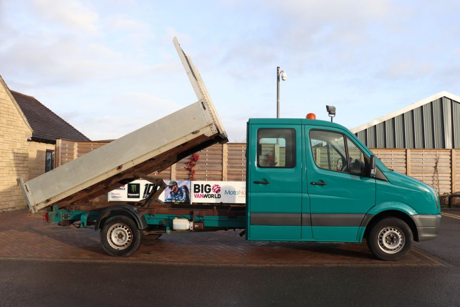 VOLKSWAGEN CRAFTER CR35 TDI 109 LWB 7 SEAT DOUBLE CAB ALLOY TIPPER - 9967 - 5