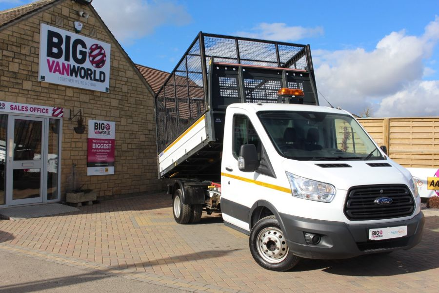 FORD TRANSIT 350 TDCI 125 SINGLE CAB 'ONE STOP' CAGED TIPPER DRW RWD - 7297 - 1
