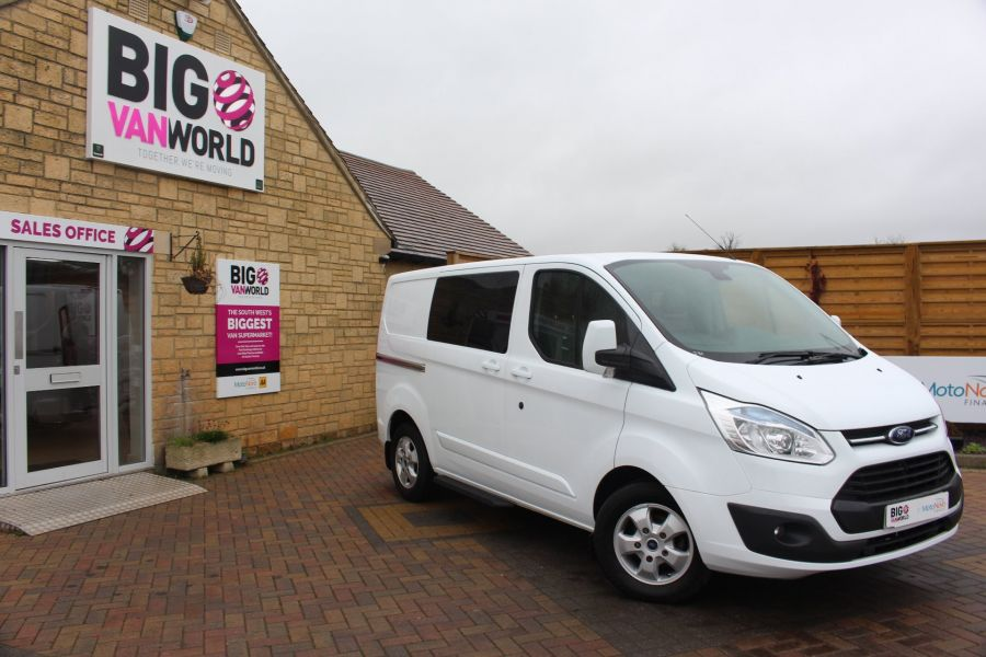 FORD TRANSIT CUSTOM 290 TDCI 155 L1 H1 LIMITED DOUBLE CAB 6 SEAT CREW VAN SWB LOW ROOF FWD - 6940 - 1