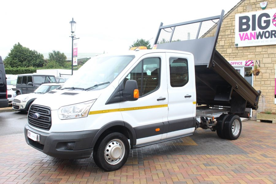 FORD TRANSIT 350 TDCI 125 L3 DOUBLE CAB STEEL TIPPER DRW - 6192 - 6