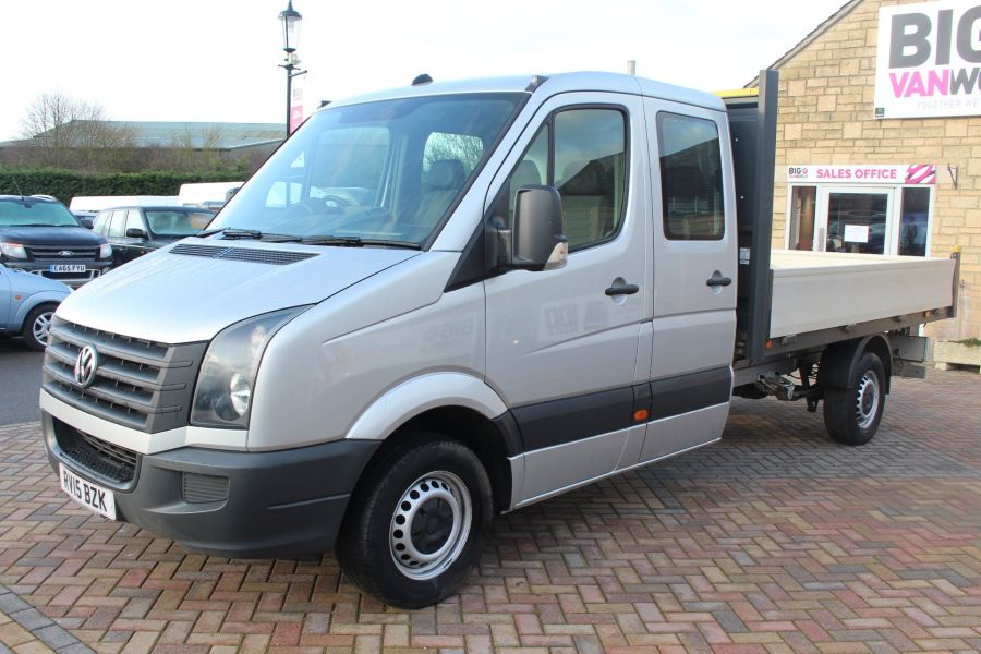 VOLKSWAGEN CRAFTER CR35 TDI 109 LWB 7 SEAT DOUBLE CAB ALLOY DROPSIDE - 9019 - 8