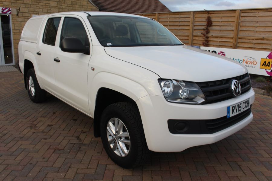 VOLKSWAGEN AMAROK DC TDI 140 STARTLINE 4MOTION DOUBLE CAB WITH TRUCKMAN TOP - 8652 - 1