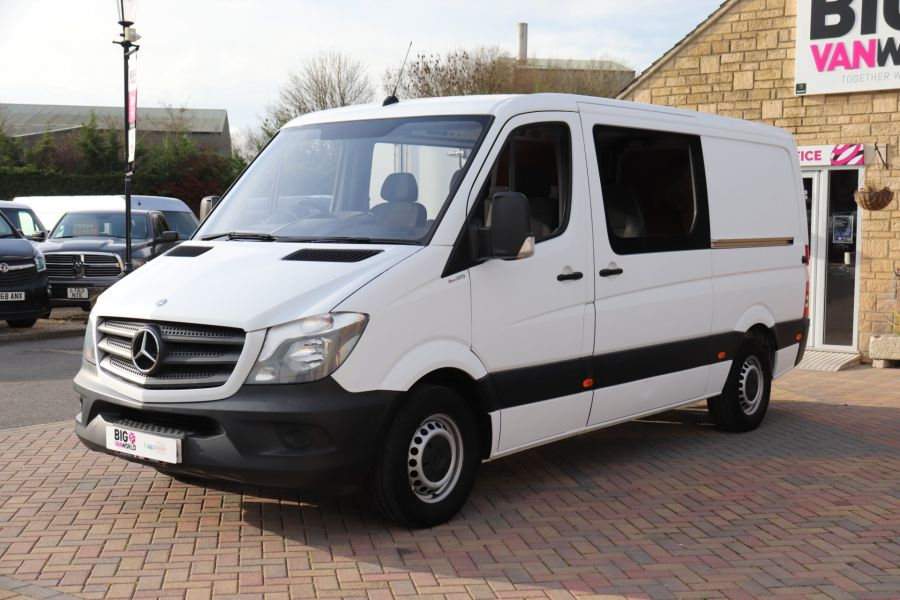 MERCEDES SPRINTER 313 CDI 129 MWB DOUBLE CAB 6 SEAT CREW VAN LOW ROOF - 11824 - 10