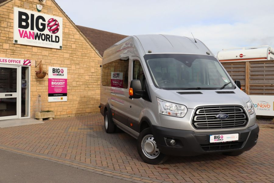 FORD TRANSIT 460 TDCI 155 L4H3 TREND 17 SEAT BUS HIGH ROOF DRW RWD - 10415 - 1