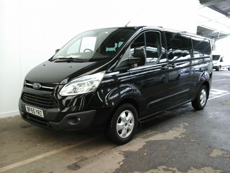 FORD TRANSIT CUSTOM 290 TDCI 155 L2H1 LIMITED DOUBLE CAB 6 SEAT CREW VAN LWB LOW ROOF FWD - 9470 - 1