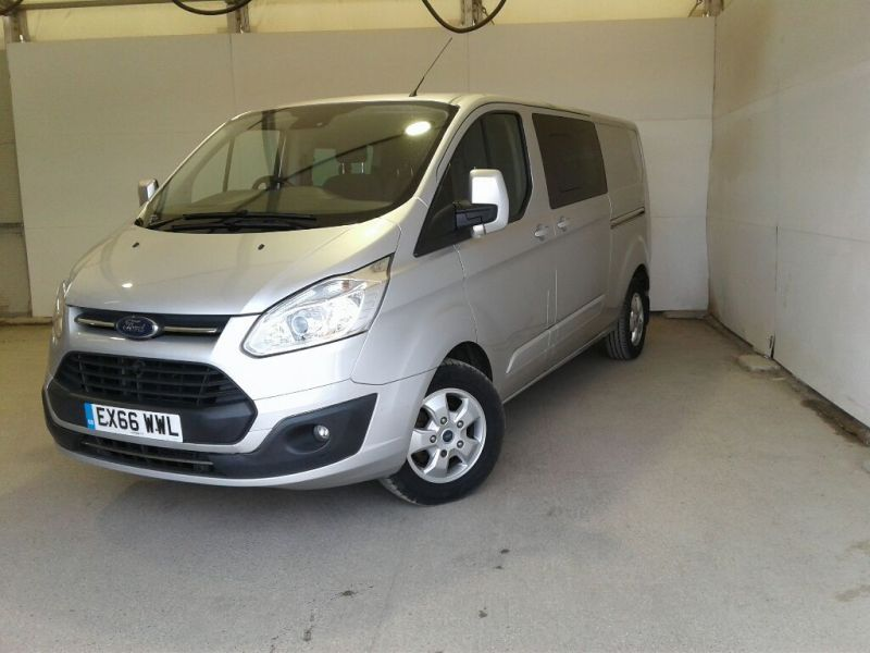 FORD TRANSIT CUSTOM 310 TDCI 130 L2H1 LIMITED DOUBLE CAB 6 SEAT CREW VAN LWB LOW ROOF FWD - 9963 - 1
