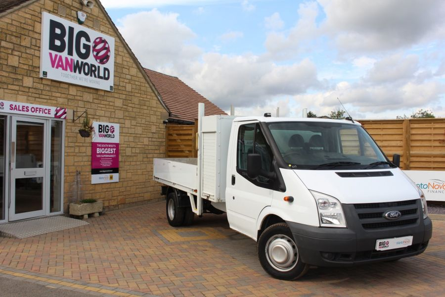 FORD TRANSIT 350 TDCI 100 LWB ALLOY DROPSIDE WITH TOOL BOX DRW - 6528 - 1