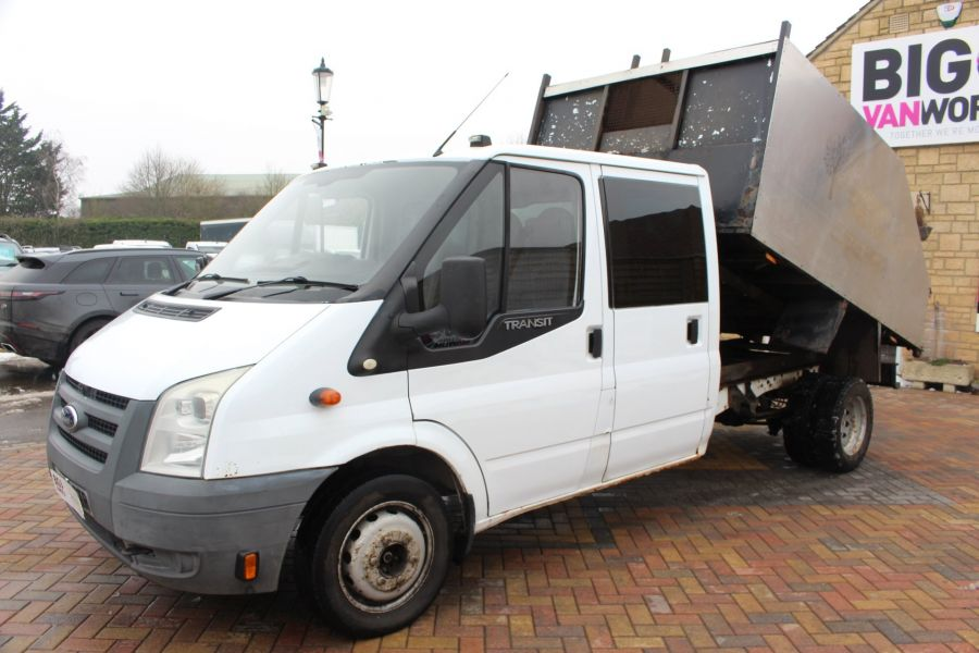 FORD TRANSIT 350 TDCI 110 LWB DOUBLE CAB HIGH SIDED ARBORIST TIPPER - 7454 - 6
