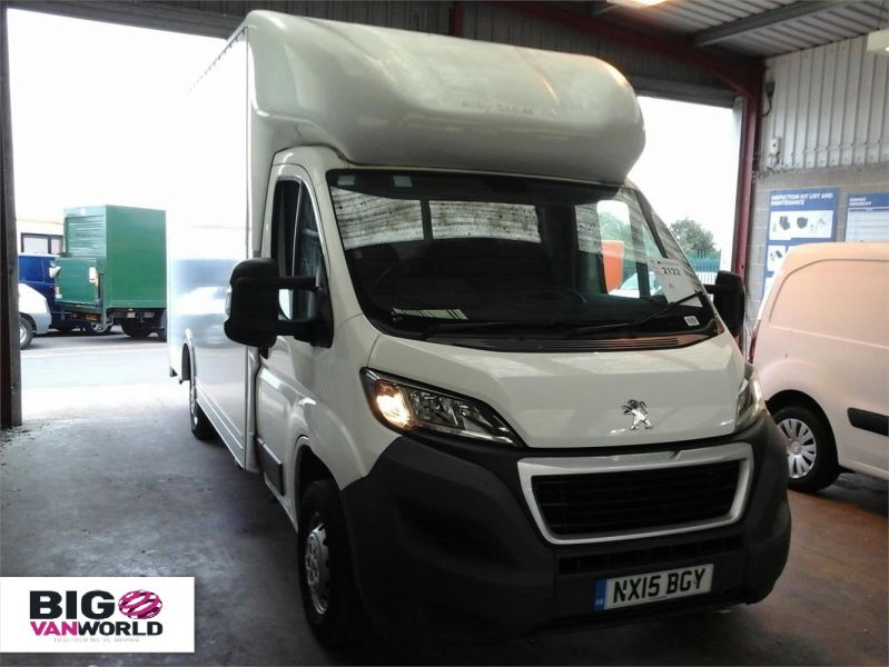 PEUGEOT BOXER 335 HDI 130 L3 LWB LOW LOADER LUTON WITH TAIL LIFT - 9513 - 1