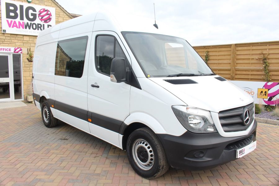 MERCEDES SPRINTER 313 CDI MWB HIGH ROOF 6 SEAT CREW VAN - 6303 - 3