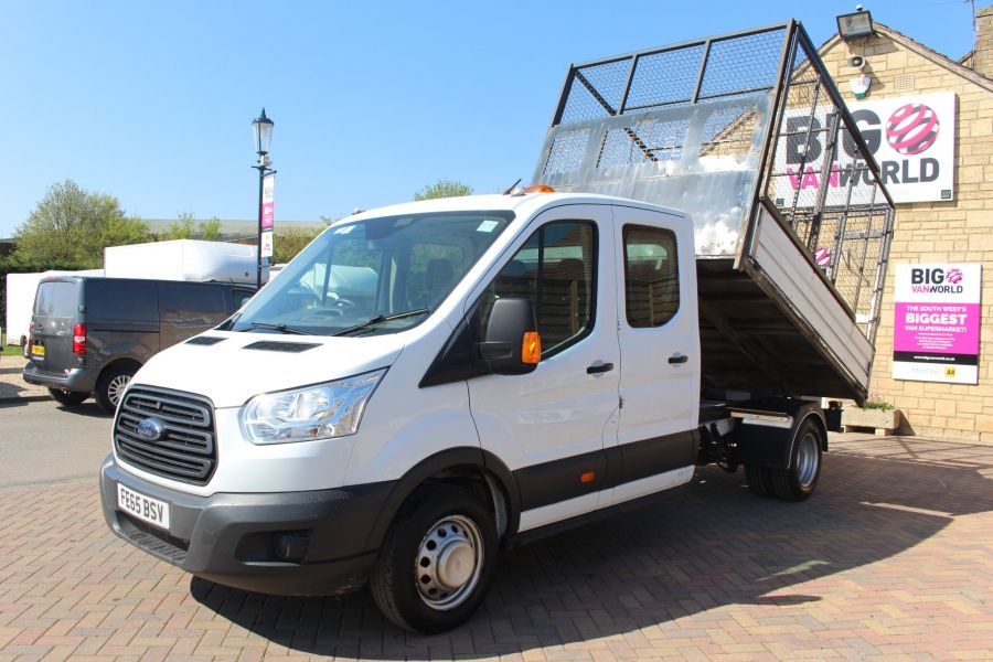 FORD TRANSIT 350 TDCI 125 L3 LWB 7 SEAT DOUBLE CAB 'ONE STOP' ALLOY TIPPER WITH STEEL CAGE DRW RWD - 9150 - 8