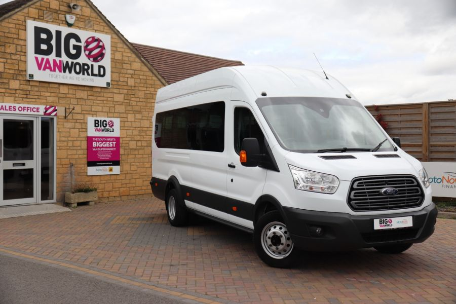 FORD TRANSIT 460 TDCI 155 L4H3 TREND 17 SEAT BUS HIGH ROOF DRW RWD - 9767 - 1