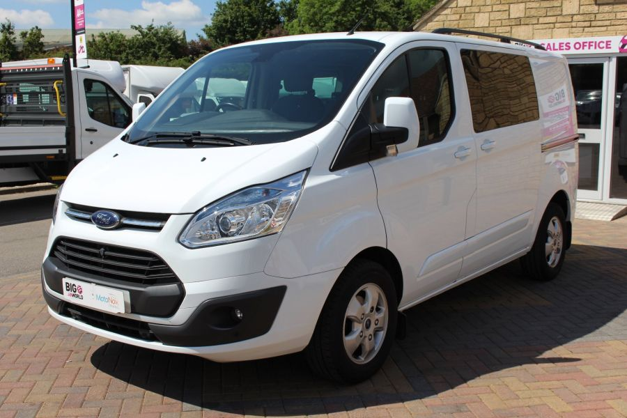 FORD TRANSIT CUSTOM 290 TDCI 125 L1 H1 LIMITED SWB DOUBLE CAB 6 SEAT CREW VAN FWD - 9206 - 9