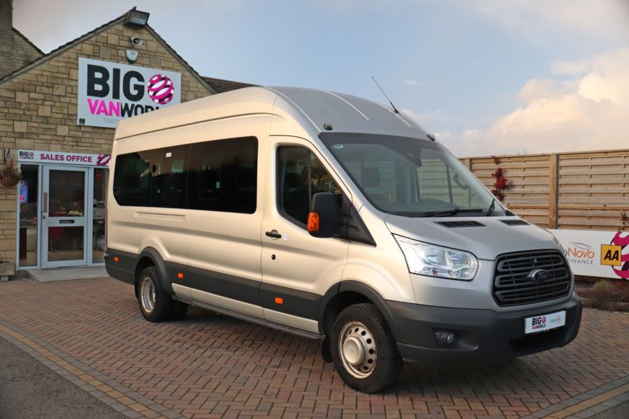 FORD TRANSIT 460 TDCI 155 L4H3 TREND 17 SEAT BUS HIGH ROOF DRW RWD - 10109 - 2