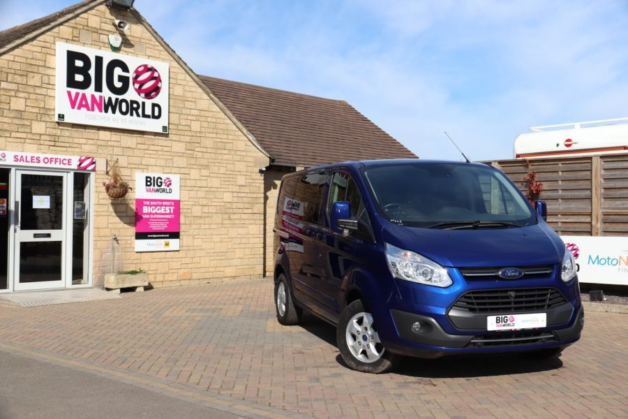FORD TRANSIT CUSTOM 310 TDCI 130 L1H1 LIMITED DOUBLE CAB 6 SEAT CREW VAN FWD - 10553 - 1