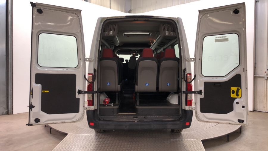RENAULT MASTER LM39 DCI 125 LWB 17 SEAT BUS MEDIUM ROOF WITH OVERHEAD STORAGE - 11310 - 9