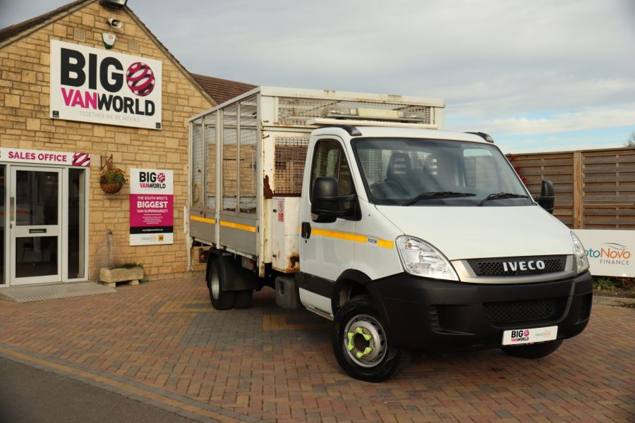IVECO DAILY 70C18 3450 WB SINGLE CAB ALLOY CAGED TIPPER WITH TAIL LIFT - 9614 - 3
