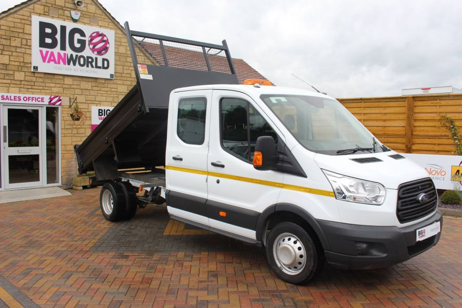 FORD TRANSIT 350 TDCI 125 L3 DOUBLE CAB STEEL TIPPER DRW - 6192 - 2