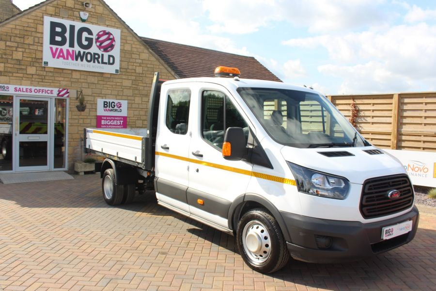 FORD TRANSIT 350 TDCI 130 L3 LWB 7 SEAT DOUBLE CAB 'ONE STOP' ALLOY TIPPER DRW RWD - 7634 - 9