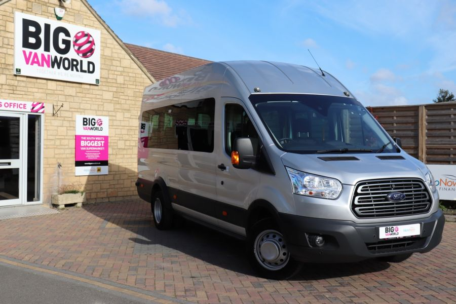 FORD TRANSIT 460 TDCI 155 L4H3 TREND 17 SEAT BUS HIGH ROOF DRW RWD  - 9893 - 1