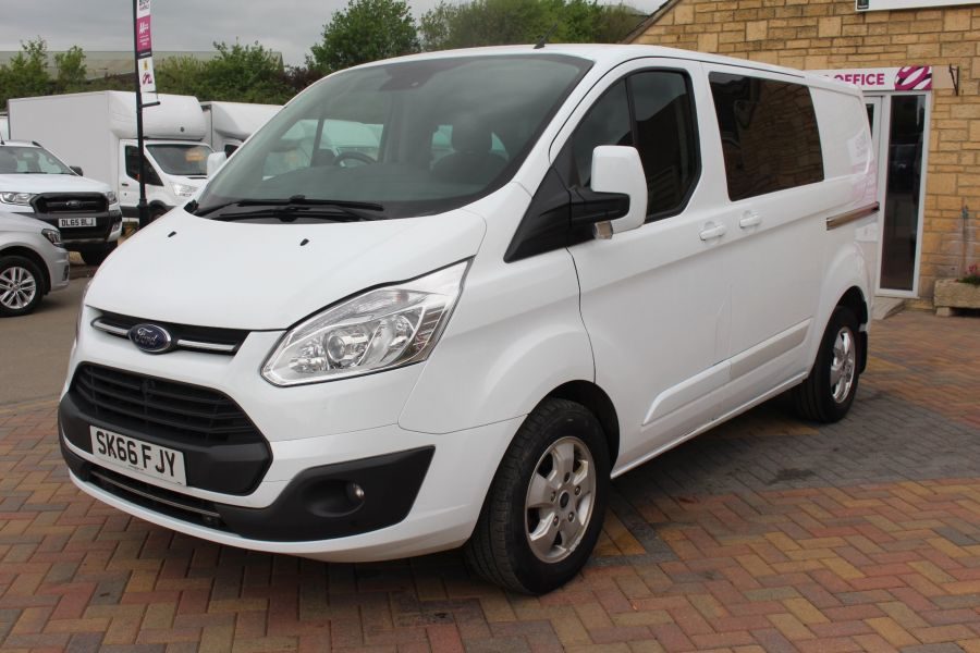 FORD TRANSIT CUSTOM 310 TDCI 170 L1 H1 LIMITED DOUBLE CAB 5 SEAT CREW VAN SWB LOW ROOF - 9234 - 9
