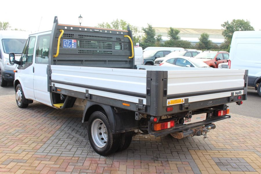 FORD TRANSIT 350 TDCI 125 LWB DOUBLE CAB 'ONE STOP' ALLOY DROPSIDE DRW RWD - 6761 - 7