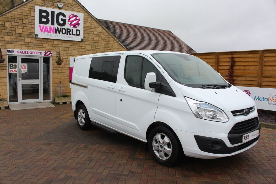 FORD TRANSIT CUSTOM 290 TDCI 155 L1 H1 LIMITED DOUBLE CAB 6 SEAT CREW VAN SWB LOW ROOF FWD - 6940 - 2