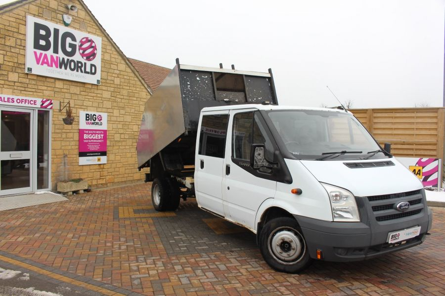 FORD TRANSIT 350 TDCI 110 LWB DOUBLE CAB HIGH SIDED ARBORIST TIPPER - 7454 - 1