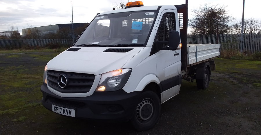 MERCEDES SPRINTER 314 CDI 140 MWB SINGLE CAB 'ONE STOP' ALLOY TIPPER  (13721) - 12170 - 7