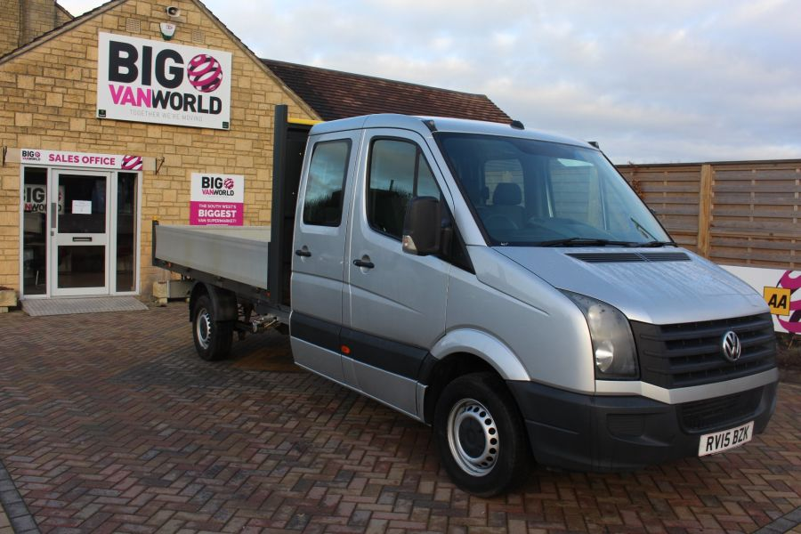 VOLKSWAGEN CRAFTER CR35 TDI 109 LWB 7 SEAT DOUBLE CAB ALLOY DROPSIDE - 9019 - 3