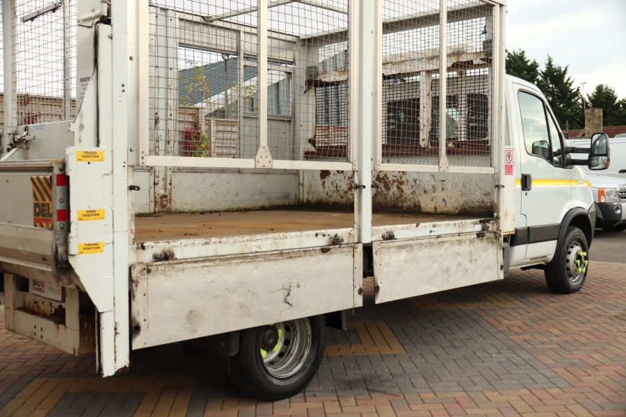 IVECO DAILY 70C18 3450 WB SINGLE CAB ALLOY CAGED TIPPER WITH TAIL LIFT - 9614 - 39