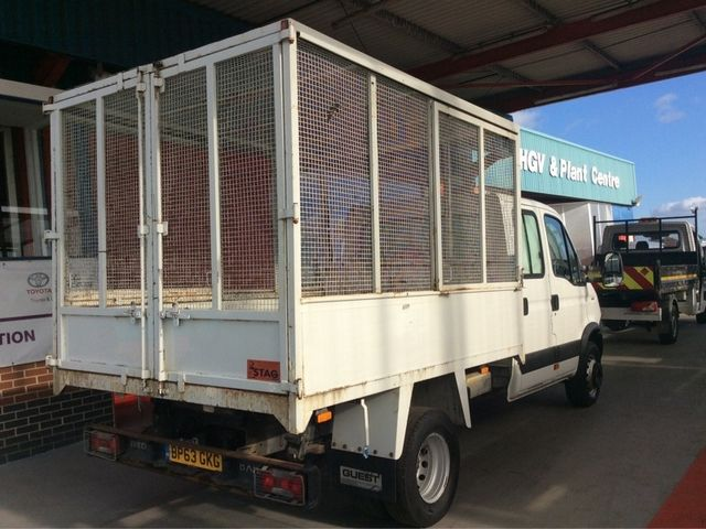 IVECO DAILY 65C17D 3.0 170BHP 3750 DOUBLE CAB CAGED TIPPER - 7005 - 2