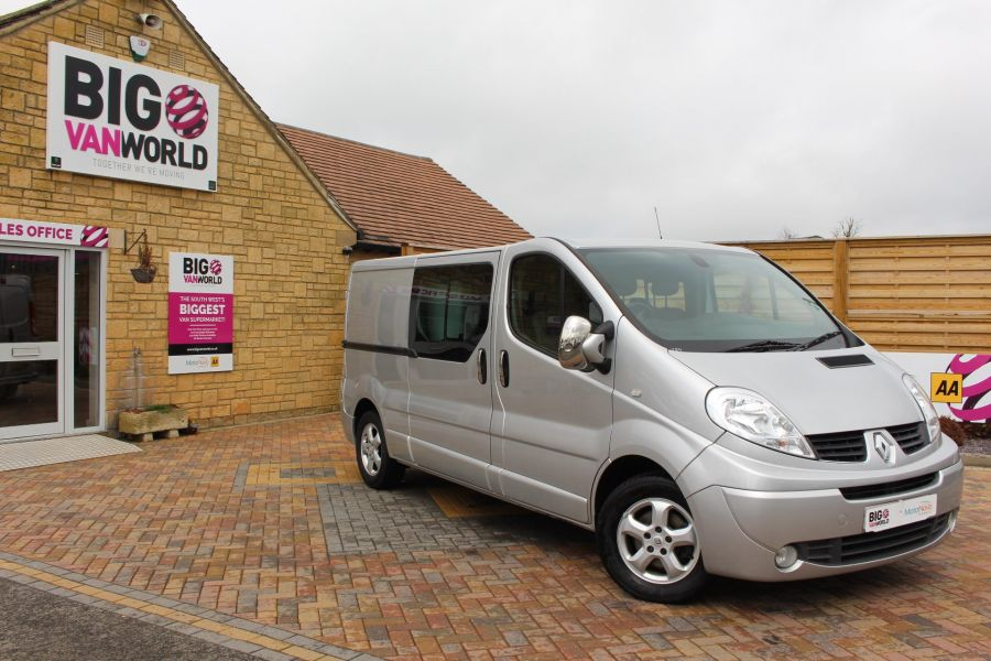 RENAULT TRAFIC LL29 DCI 115 SPORT LWB LOW ROOF DOUBLE CAB 6 SEAT CREW VAN - 7507 - 1