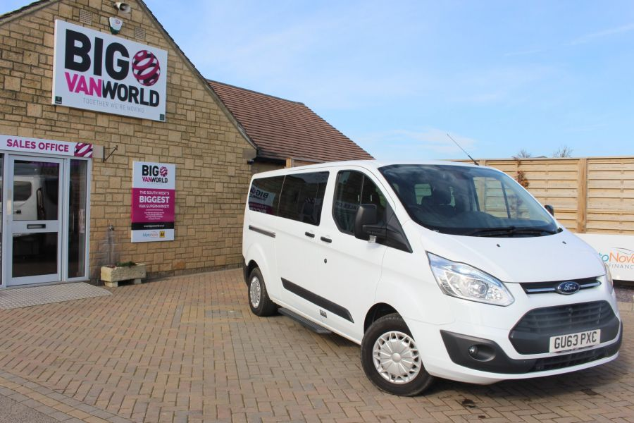 FORD TOURNEO CUSTOM 300 TDCI 125 ZETEC L2 H1 9 SEAT MINIBUS LWB LOW ROOF - 8771 - 2