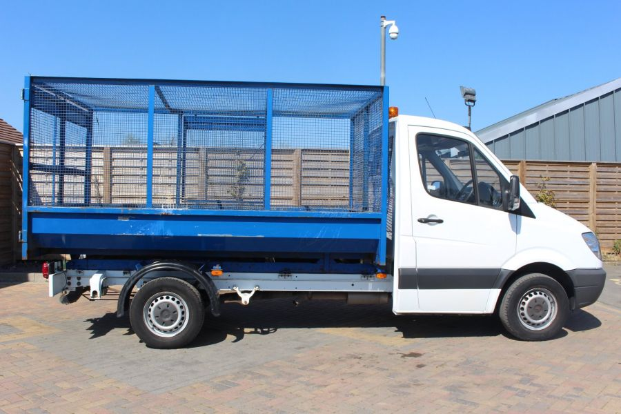MERCEDES SPRINTER 313 CDI 129 MWB SINGLE CAB CAGED TIPPER - 9129 - 12