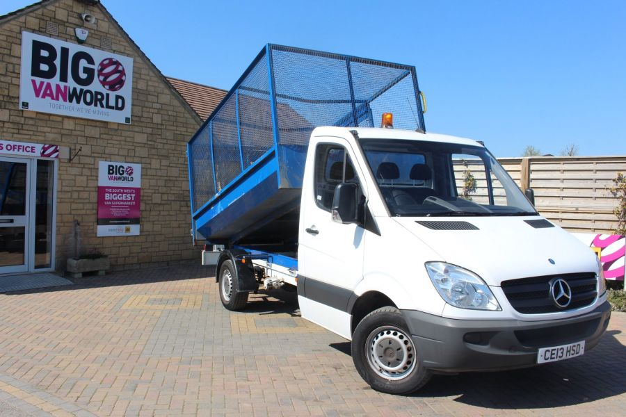 MERCEDES SPRINTER 313 CDI 129 MWB SINGLE CAB CAGED TIPPER - 9129 - 1