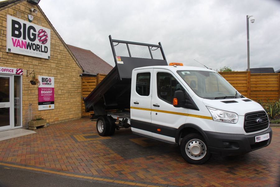 FORD TRANSIT 350 TDCI 125 L3 DOUBLE CAB STEEL TIPPER DRW - 6192 - 1
