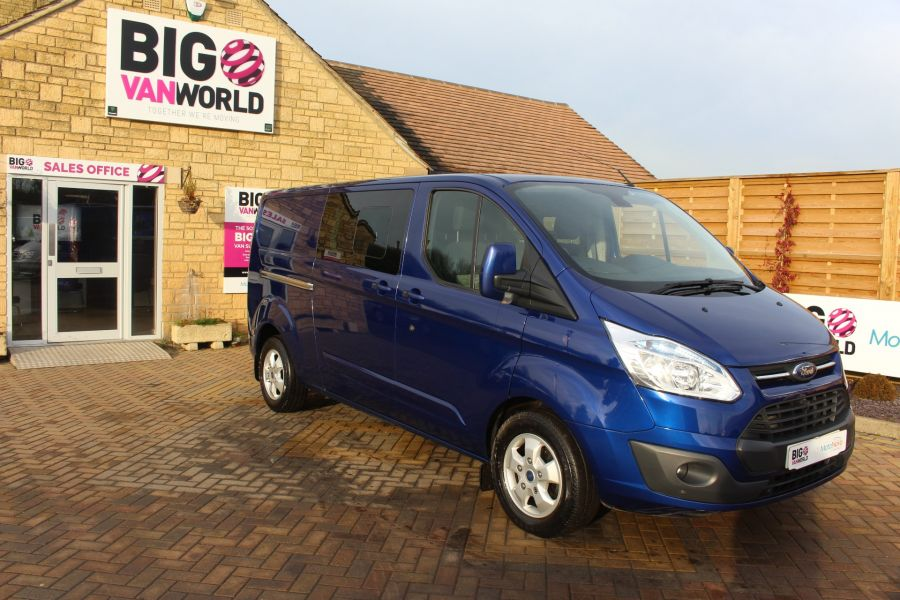 FORD TRANSIT CUSTOM 290 TDCI 125 L2 H1 LIMITED DOUBLE CAB 6 SEAT CREW VAN LWB LOW ROOF FWD  - 7113 - 2