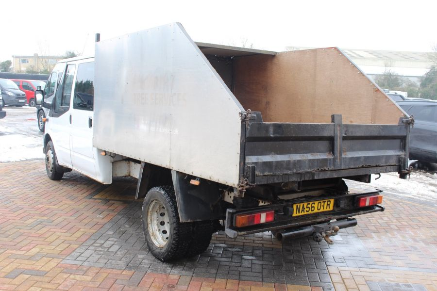 FORD TRANSIT 350 TDCI 110 LWB DOUBLE CAB HIGH SIDED ARBORIST TIPPER - 7454 - 14