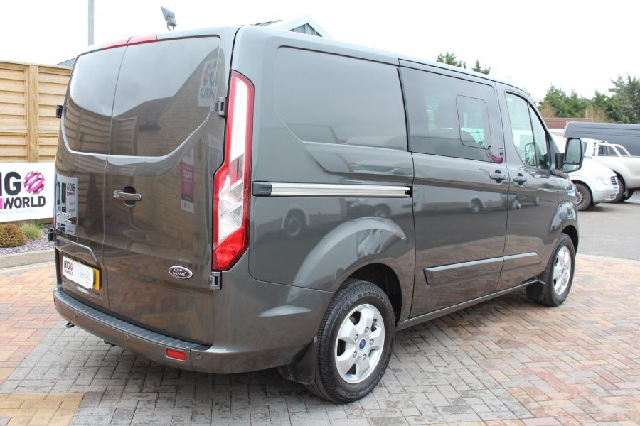 FORD TRANSIT CUSTOM 290 TDCI 125 L1 H1 LIMITED DOUBLE CAB 6 SEAT CREW VAN SWB LOW ROOF FWD - 7542 - 5