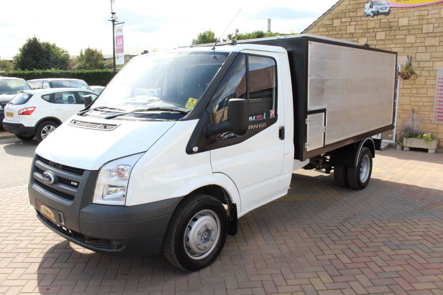 FORD TRANSIT 350 MWB SINGLE CAB HIGH SIDED ARBORIST ALLOY TIPPER - 6153 - 7