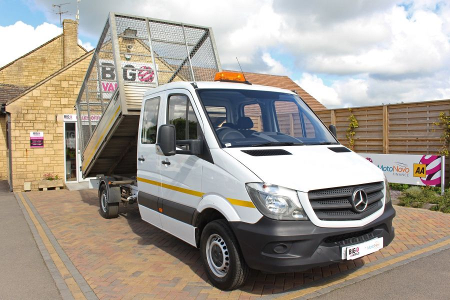 MERCEDES SPRINTER 314 CDI 140 DOUBLE CAB 6 SEAT CAGED ALLOY TIPPER - 9302 - 12